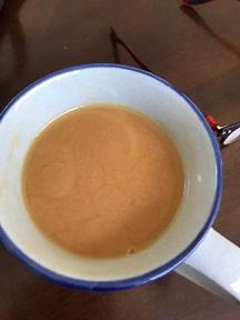 大さじ2杯、コーヒー150ccのナッティ珈琲