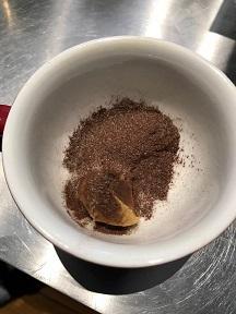 チョコレートパウダーを一緒に